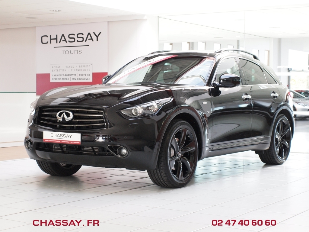 achat infiniti occasion infiniti qx70 occasion qx70 30d s design 3 0 v6 2015 238 ch noir. Black Bedroom Furniture Sets. Home Design Ideas